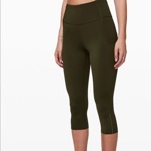 """Lululemon Fast and Free High-Rise Crop ll 23"""""""